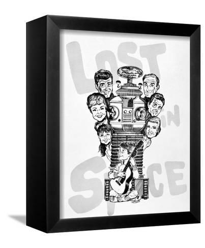 Lost in Space--Framed Canvas Print