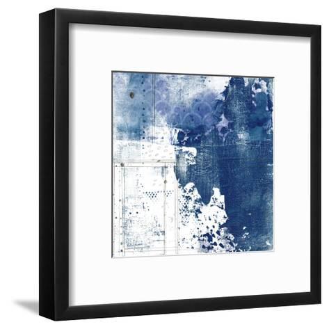 Navy Abstract I-Sarah Ogren-Framed Art Print