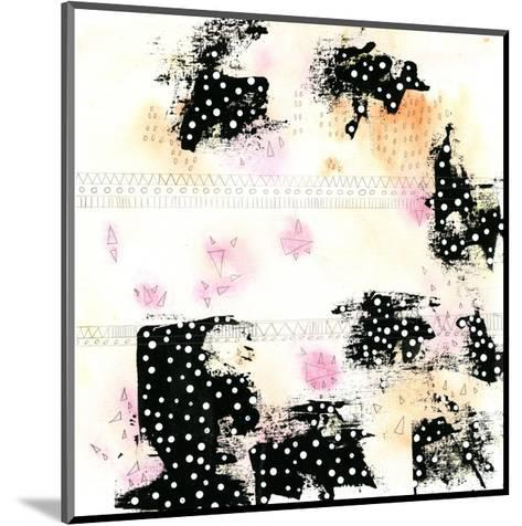 Pink and Black-Sarah Ogren-Mounted Art Print