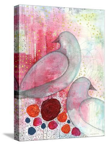 Two Birds in Fuschia-Sarah Ogren-Stretched Canvas Print