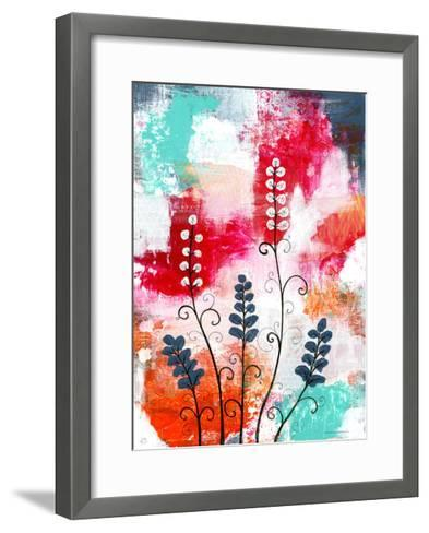 Bright Abstract with Flowers-Sarah Ogren-Framed Art Print