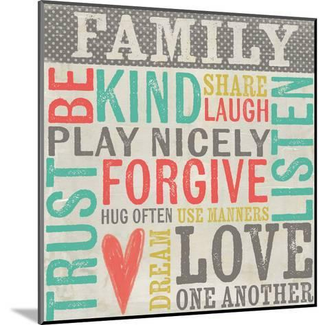 Family Rules-Katie Doucette-Mounted Art Print