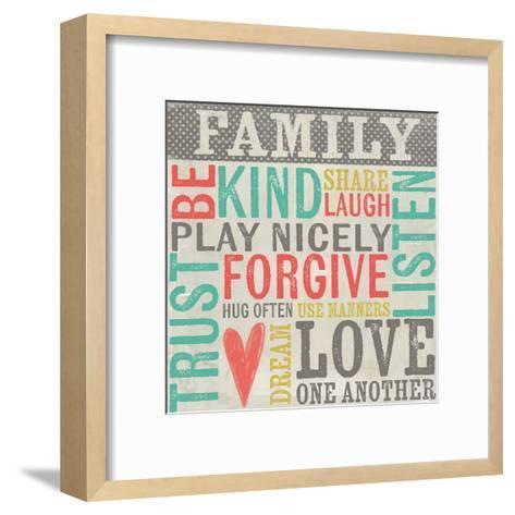 Family Rules-Katie Doucette-Framed Art Print