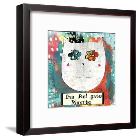 Day of the Dead Cat-Sarah Ogren-Framed Art Print