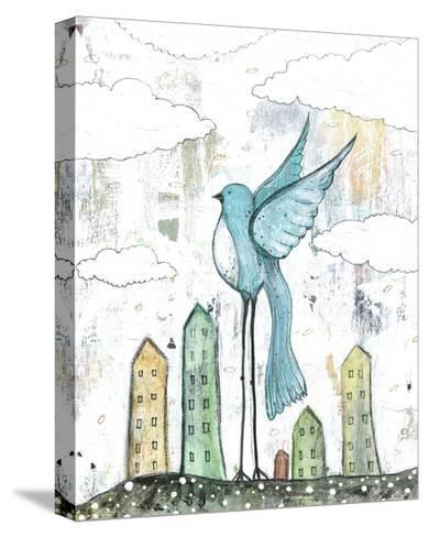 Blue Bird-Sarah Ogren-Stretched Canvas Print