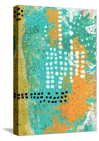 Orange and Green Abstract-Sarah Ogren-Stretched Canvas Print