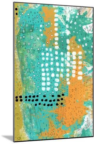 Orange and Green Abstract-Sarah Ogren-Mounted Art Print