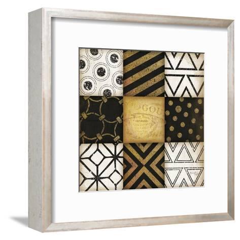 Black-White-Gold I-Jennifer Pugh-Framed Art Print