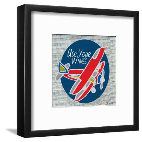 Airplane One-Shanni Welsh-Framed Art Print