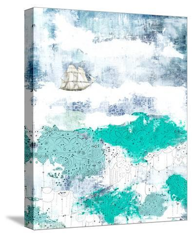 Ocean and Ship-Sarah Ogren-Stretched Canvas Print