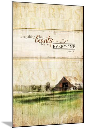 Everything Has Beauty-Jennifer Pugh-Mounted Art Print