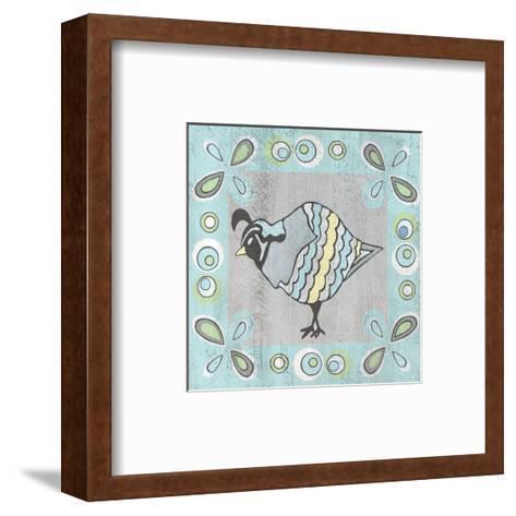 Quail 1-Shanni Welsh-Framed Art Print