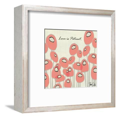 Love Is Patient Poppies-Shanni Welsh-Framed Art Print