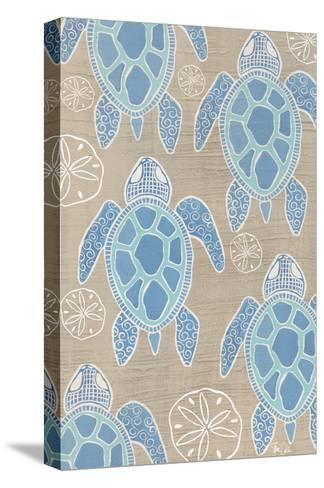 Sea Turtle 2-Shanni Welsh-Stretched Canvas Print