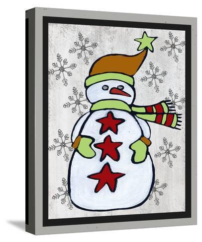 Snowman Two-Craft-Shanni Welsh-Stretched Canvas Print