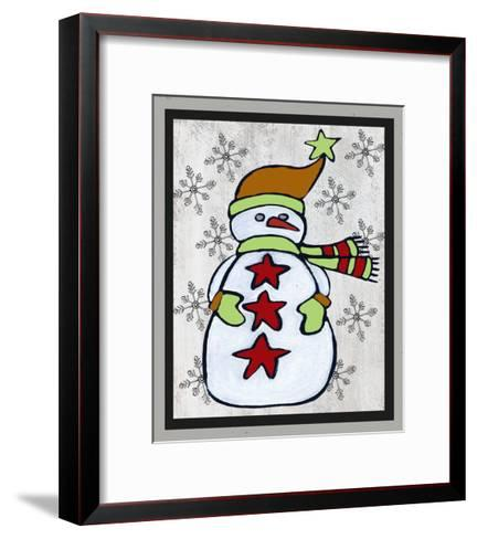 Snowman Two-Craft-Shanni Welsh-Framed Art Print