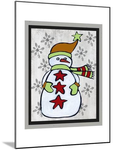 Snowman Two-Craft-Shanni Welsh-Mounted Art Print