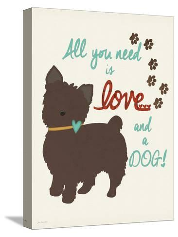 Love and a Dog-Jo Moulton-Stretched Canvas Print