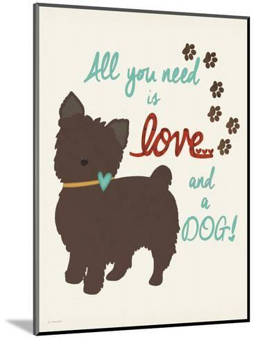 Love and a Dog-Jo Moulton-Mounted Art Print