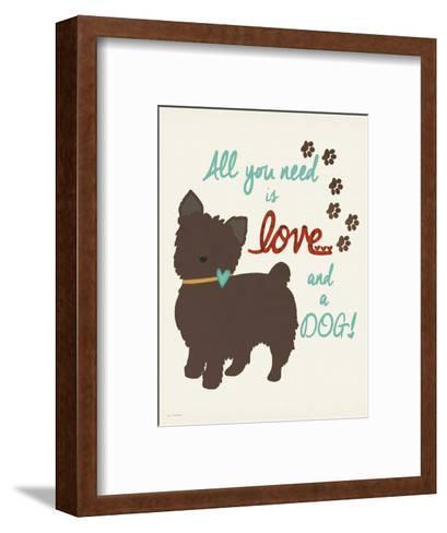 Love and a Dog-Jo Moulton-Framed Art Print
