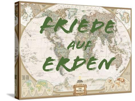 Friede auf Erden-National Geographic Maps-Stretched Canvas Print
