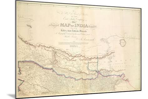 Map of India, 1822-Aaron Arrowsmith-Mounted Giclee Print