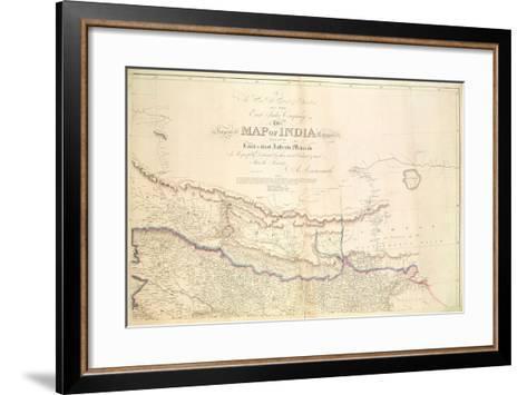 Map of India, 1822-Aaron Arrowsmith-Framed Art Print