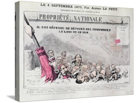 Defense De Deposer Des Immondices Le Long De Ce Mur, Caricature of Second Empire Politicians-Alfred Le Petit-Stretched Canvas Print