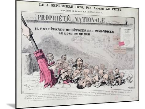 Defense De Deposer Des Immondices Le Long De Ce Mur, Caricature of Second Empire Politicians-Alfred Le Petit-Mounted Giclee Print