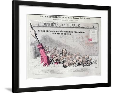 Defense De Deposer Des Immondices Le Long De Ce Mur, Caricature of Second Empire Politicians-Alfred Le Petit-Framed Art Print