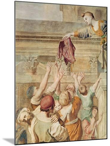 Detail of St. Cecilia Distributing Alms, C.1612-15-Domenichino-Mounted Giclee Print