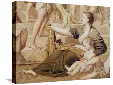 Detail of St. Cecilia Distributing Alms C.1612-15-Domenichino-Stretched Canvas Print