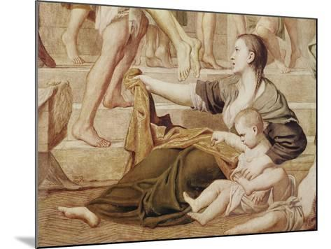 Detail of St. Cecilia Distributing Alms C.1612-15-Domenichino-Mounted Giclee Print