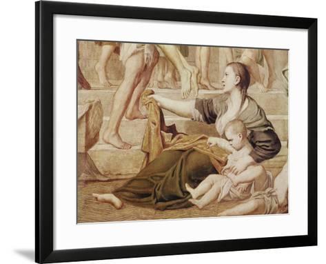 Detail of St. Cecilia Distributing Alms C.1612-15-Domenichino-Framed Art Print