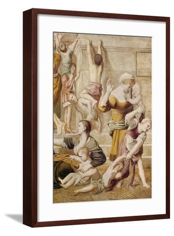 Detail of St. Cecilia Distributing Alms, C.1612-15-Domenichino-Framed Art Print