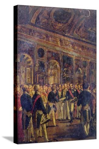 The Senate Presenting Louis Napoleon Bonaparte-Charles-Philippe Lariviere-Stretched Canvas Print