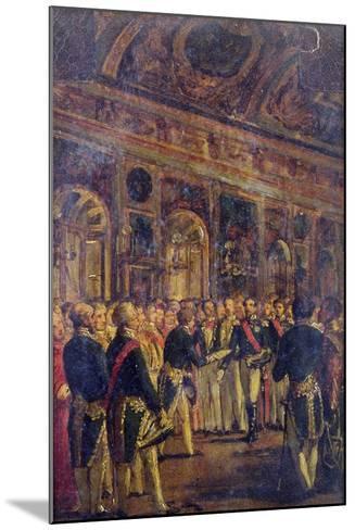 The Senate Presenting Louis Napoleon Bonaparte-Charles-Philippe Lariviere-Mounted Giclee Print