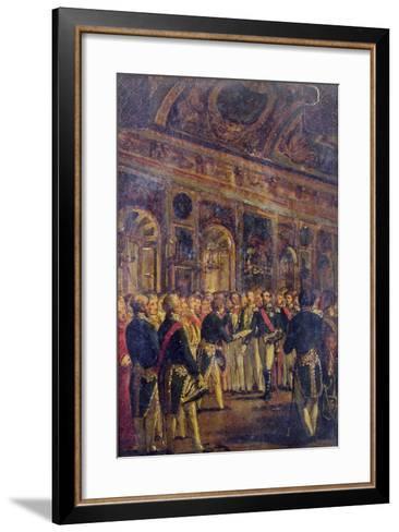 The Senate Presenting Louis Napoleon Bonaparte-Charles-Philippe Lariviere-Framed Art Print