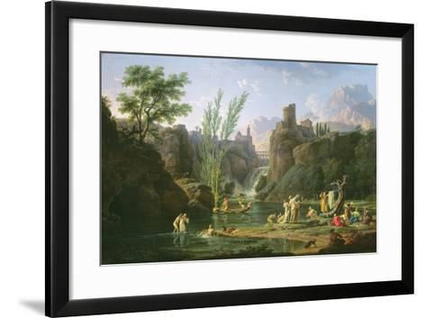 Morning, the Bathers, 1772-Claude Joseph Vernet-Framed Art Print