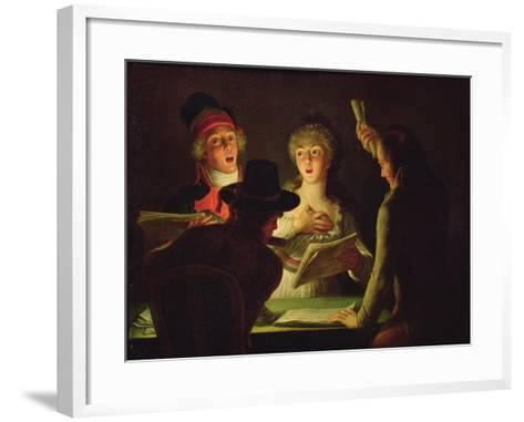 The Marseillaise Or, the Patriotic Singers, 1794-Dominique Doncre-Framed Art Print