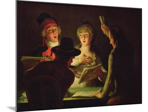 The Marseillaise Or, the Patriotic Singers, 1794-Dominique Doncre-Mounted Giclee Print