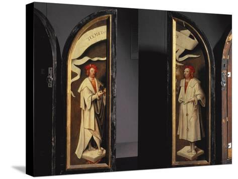 The Cleansing of Naaman Triptych-Cornelis Engelbrechtsen-Stretched Canvas Print