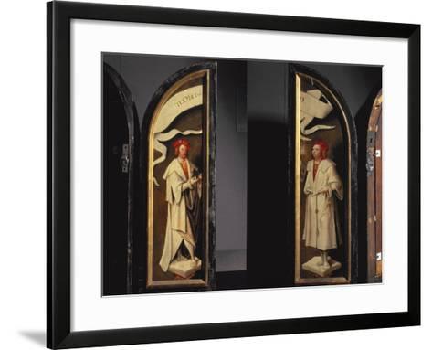 The Cleansing of Naaman Triptych-Cornelis Engelbrechtsen-Framed Art Print
