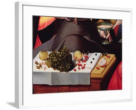 Scene Galante at the Gates of Paris, Detail of Fruits, Playing Cards and a Goblet--Framed Art Print