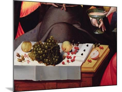 Scene Galante at the Gates of Paris, Detail of Fruits, Playing Cards and a Goblet--Mounted Giclee Print