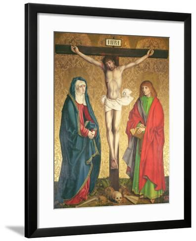 Crucifixion, Central Panel from the Retable on the High Altar, 1430--Framed Art Print