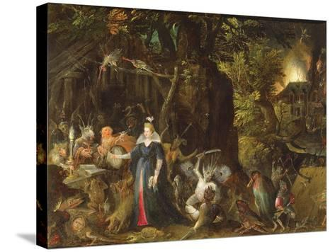 The Temptation of St. Anthony-Gillis van Coninxloo III-Stretched Canvas Print
