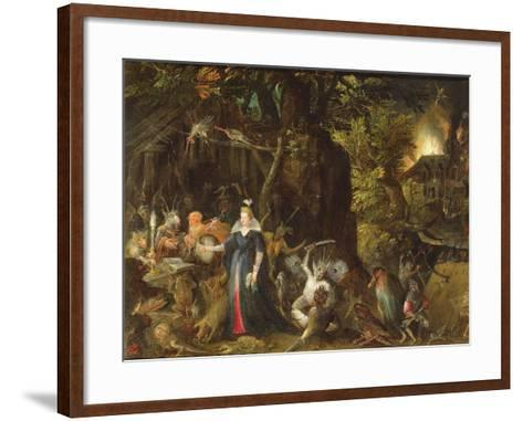 The Temptation of St. Anthony-Gillis van Coninxloo III-Framed Art Print