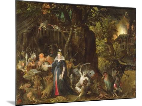 The Temptation of St. Anthony-Gillis van Coninxloo III-Mounted Giclee Print