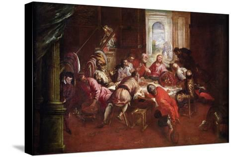 The Last Supper-Jacopo Robusti Tintoretto-Stretched Canvas Print